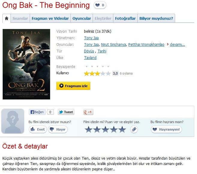 Ong Bak 2 - 2008 BRRip XviD AC3 - Türkçe Dublaj Tek Link indir