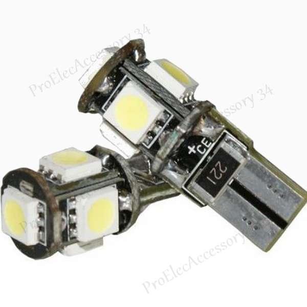 ampoule lampe feux a 5 led smd pour retroviseur blanc. Black Bedroom Furniture Sets. Home Design Ideas