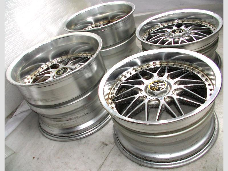 WORK REZAX alloy wheels rims 18 9.5J 13.5J 5x114 S14 Aristo S13