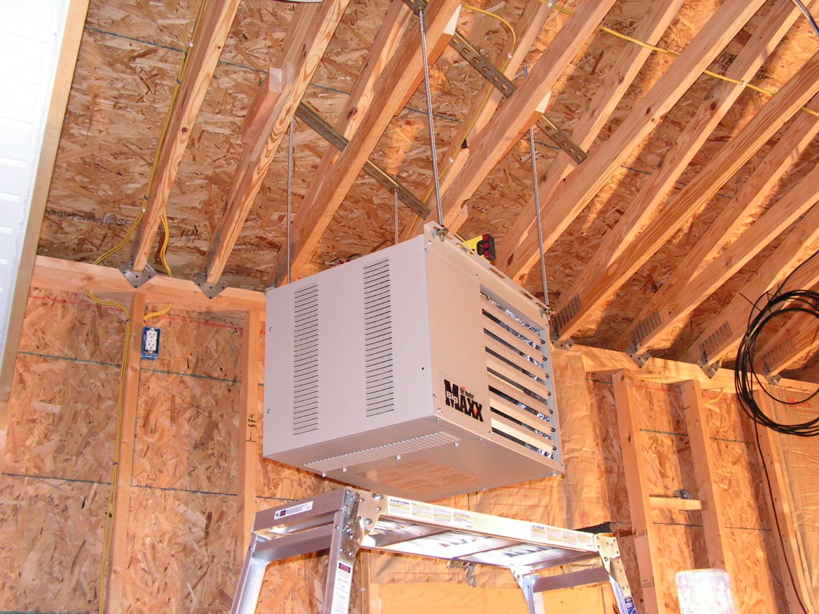 Overhead garage storage racks Anyone use the ones from New age