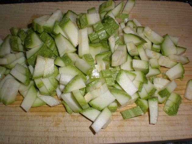calabacines1 - ▷ Arroz con machacado de frutos secos 菱