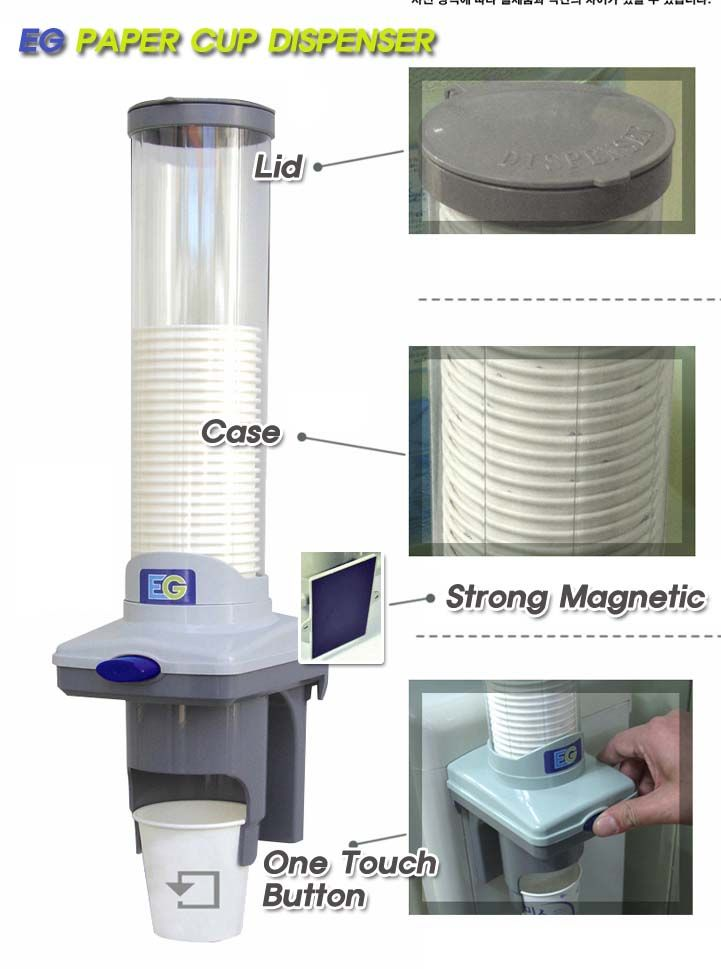 New Automatic Paper Cup Dispenser Magnet Attaching Cup