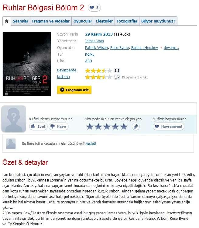 Ruhlar Bölgesi: Bölüm 2 - 2013 BluRay 1080p x264 DTS MKV indir